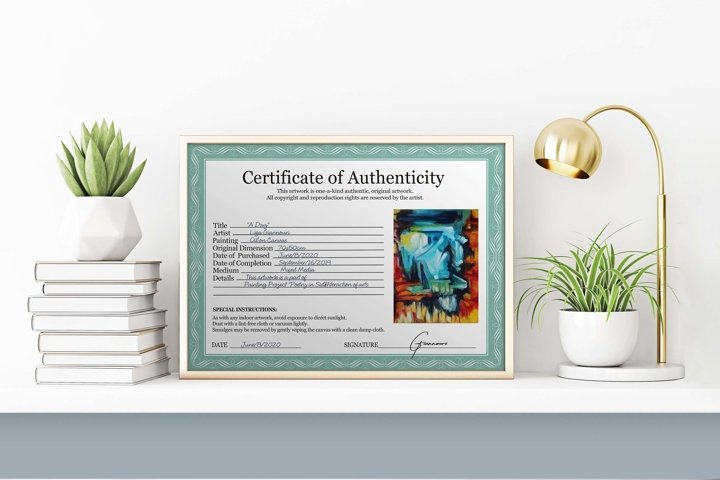 Classic Certificate of Authenticity - Full PSD Template