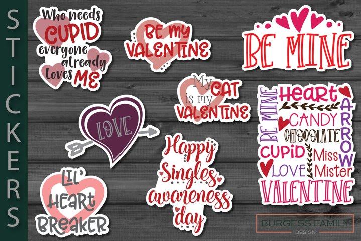 Sticker bundle Valentines Day