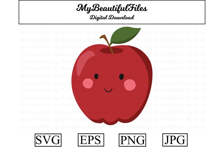 Apple SVG - Cute Apple SVG, EPS, PNG and JPG