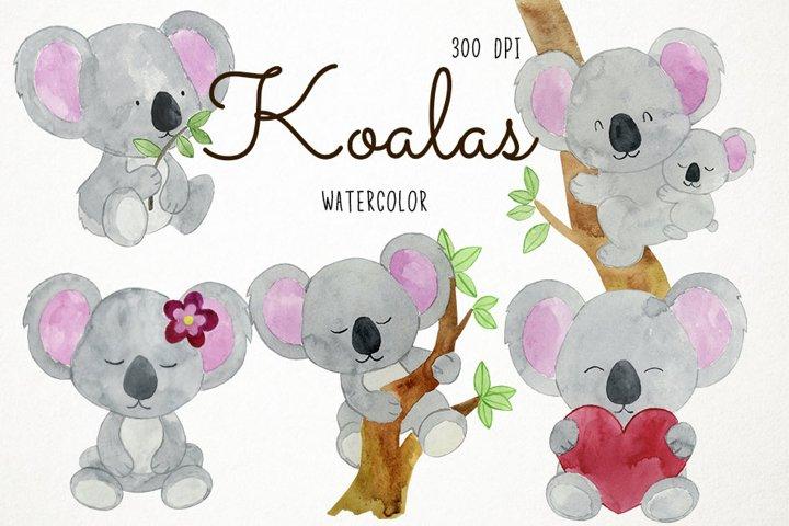 Watercolor Koalas Clipart Koalas Clip Art, Australian