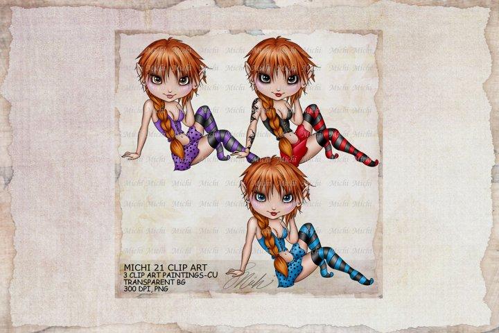 Michi 21 Cutie Girl Art, Sublimation