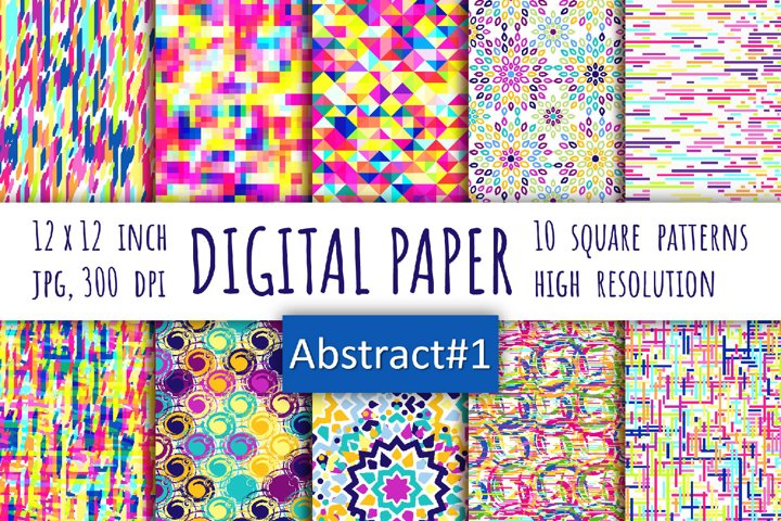 Abstract digital paper. Bohemian style background