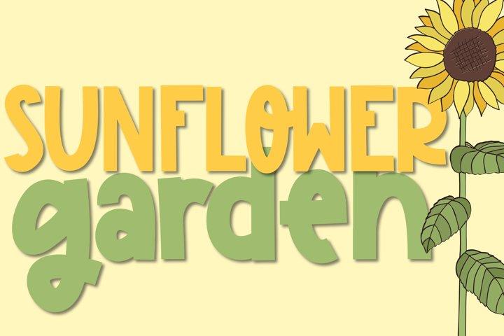 Sunflower Garden - A Cute Font