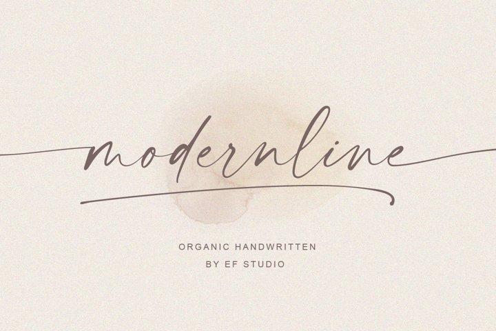 modernline | handwritten font