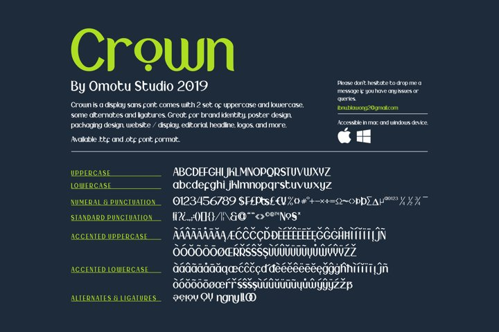 Crown - Free Font of The Week Design6