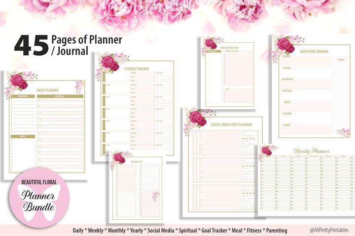 Beautiful Floral Planner Bundle