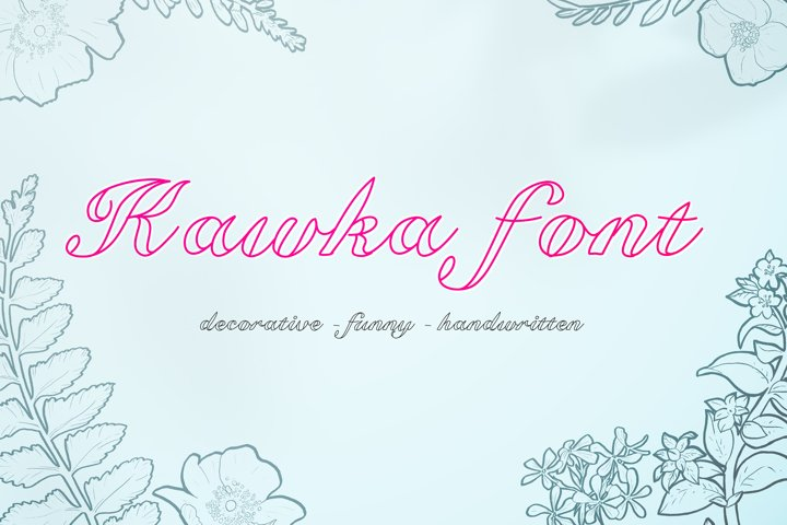 Kawka font