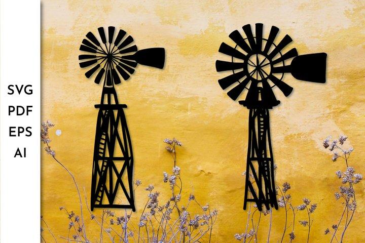 Windmill SVG. Farmhouse windmill. Rustic windmill.