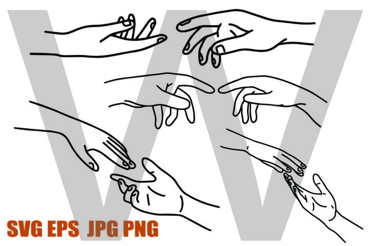 New Style Hand Set 4 - PNG SVG EPS PNG