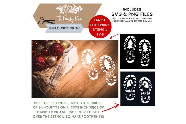 Santa boot print svg, Santa, Cricut and Sihouette, SVG, PNG