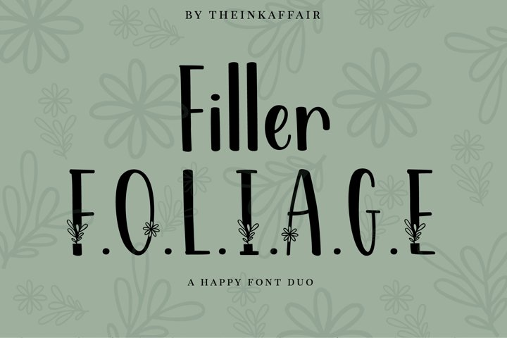 Filler Foliage - A Happy Christmas Font Duo