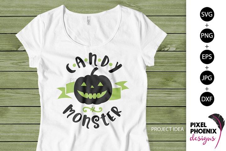 Candy Monster, Halloween SVG, Cute SVG, Funny SVG