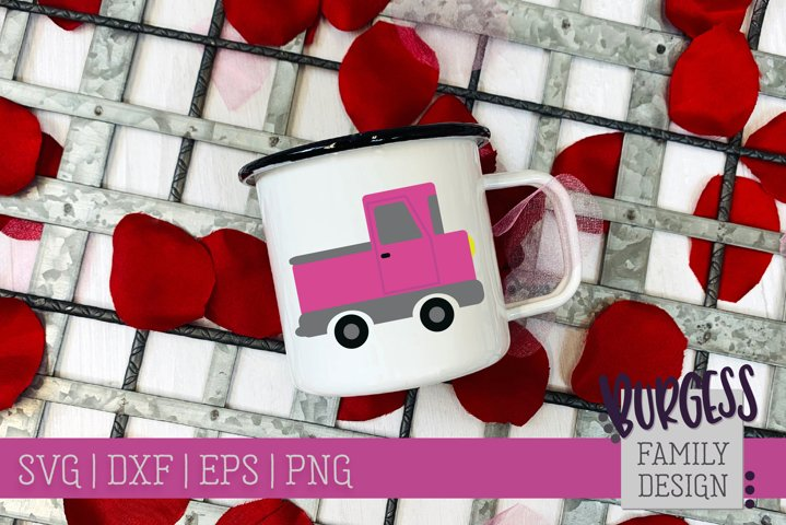 Pink Truck | Cuttable & Printable