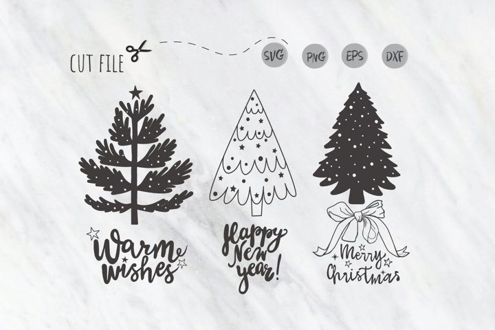 Christmas Tree SVG / christmas lettering svg