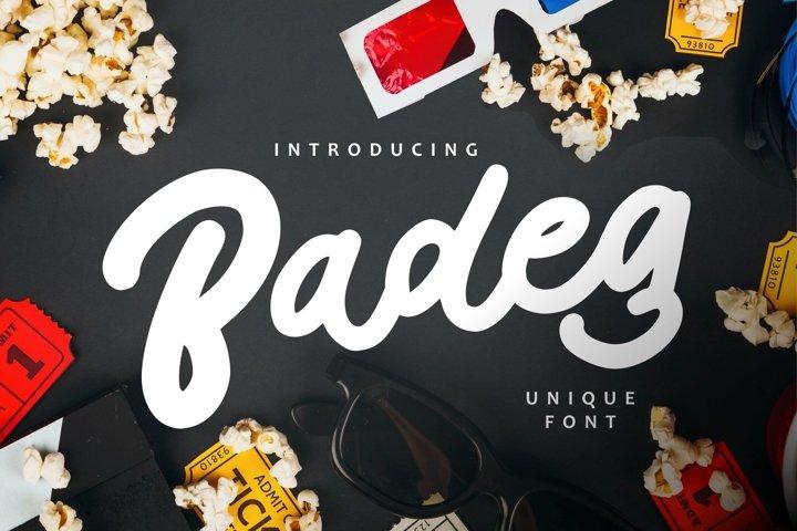 Badeg - Unique Font