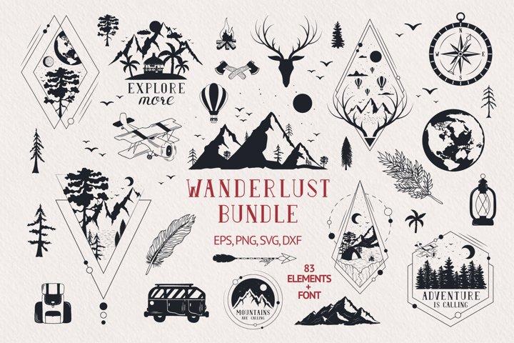 Hand drawn Wanderlust Bundle