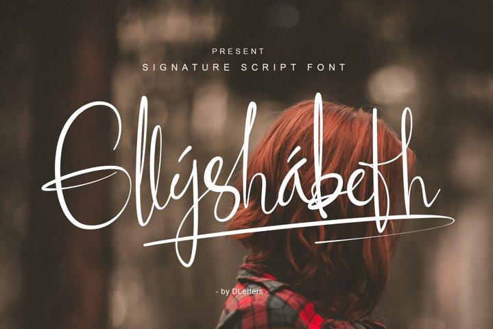 Ellyshabeth | Signature Script Font