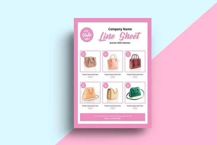 Line Sheet Flyer Template