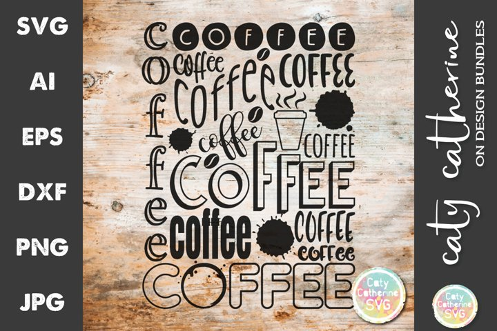 Coffee Typography Graphic SVG Cut File