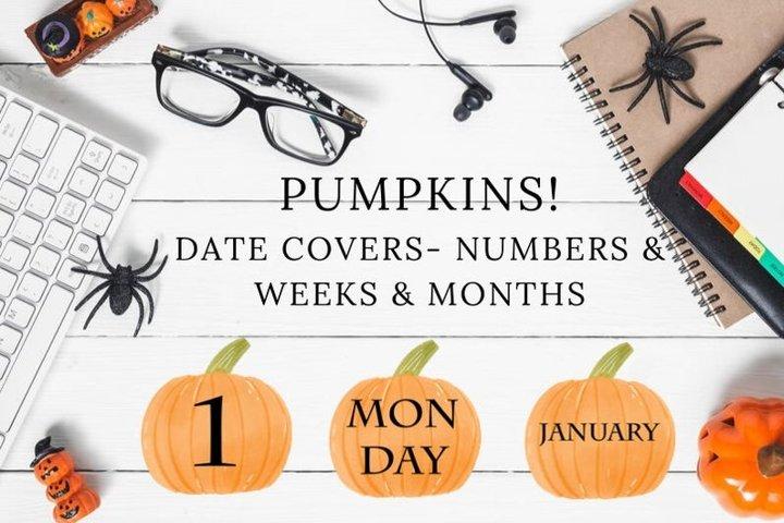 Watercolor Pumpkin Dates for Planner Decorative, Halloween