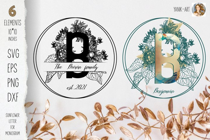 Monogram B design for Farmhouse SVG EPS PNG