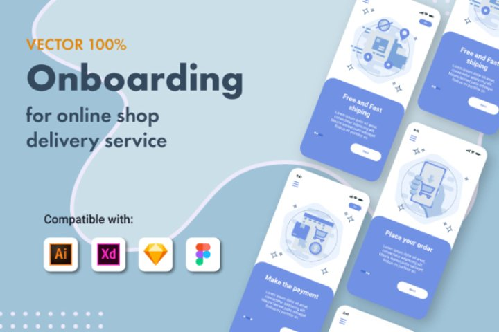 Onboarding for online shop delivery service