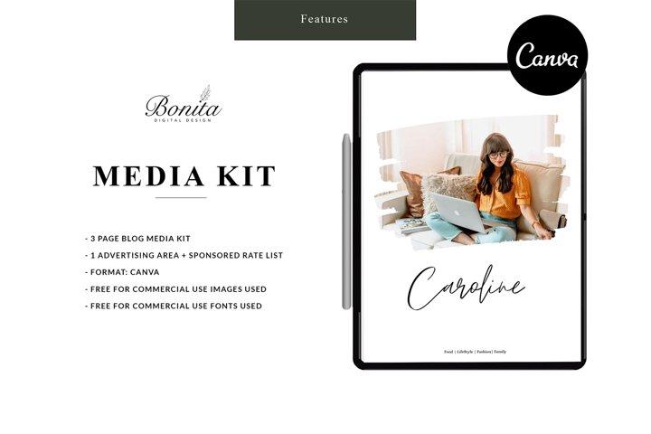 Caroline Media Kit   Press Kit   EASY to edit in CANVA