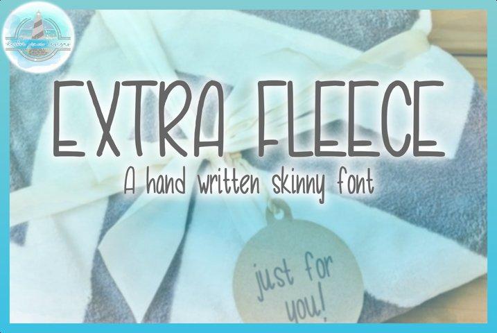 Extra Fleece Handwritten Skinny Font