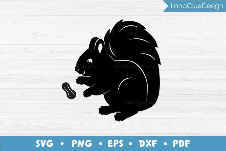 Squirrel and Peanut SVG