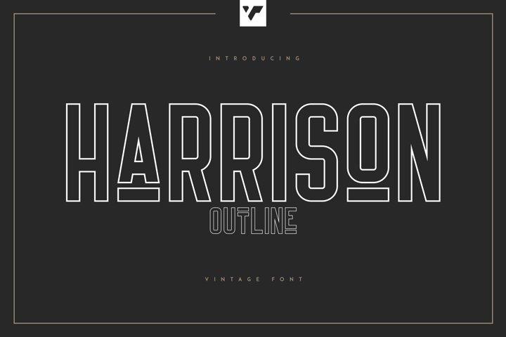 Harrison - Outline Font