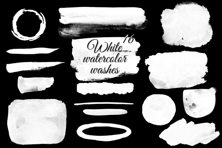 White watercolor washes clipart Watercolor splash clipart