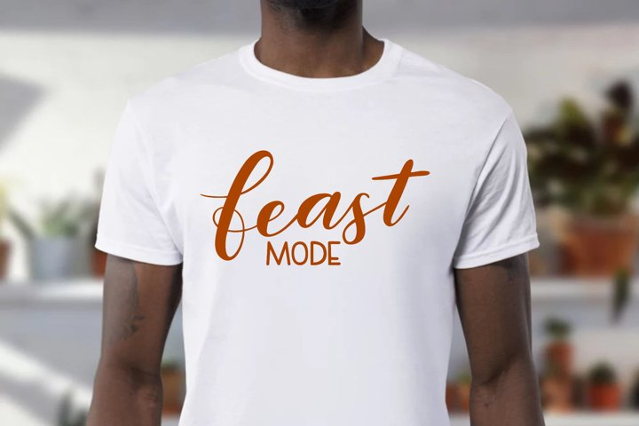 Thanksgiving SVG - Feast mode SVG, handlettered example 2