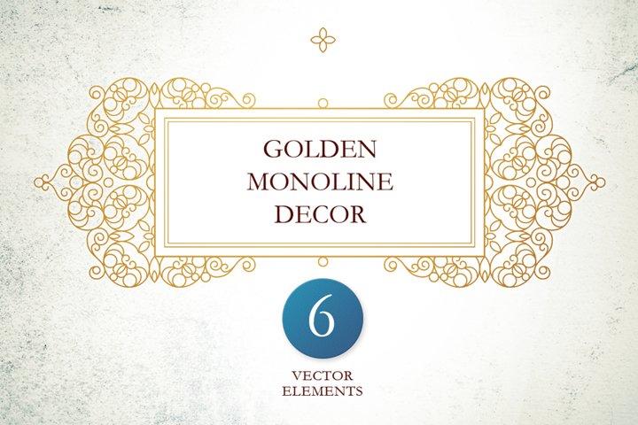 3. Set Of Vector Monoline Decor