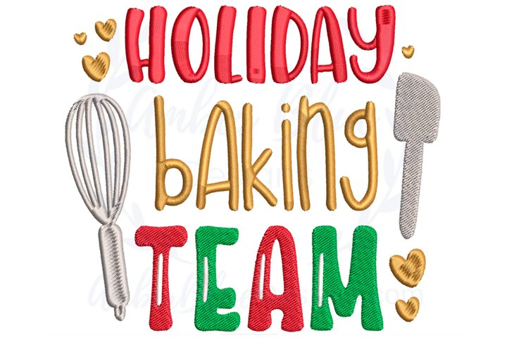 Holiday Baking Team Embroidery File