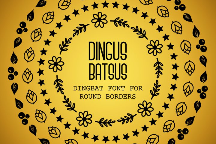 Dingus Batsus, a dingbat font for making borders