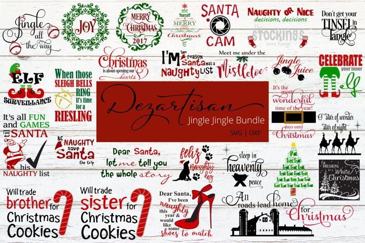 Christmas Jingle Jingle Bundle SVG DXF Cut Files