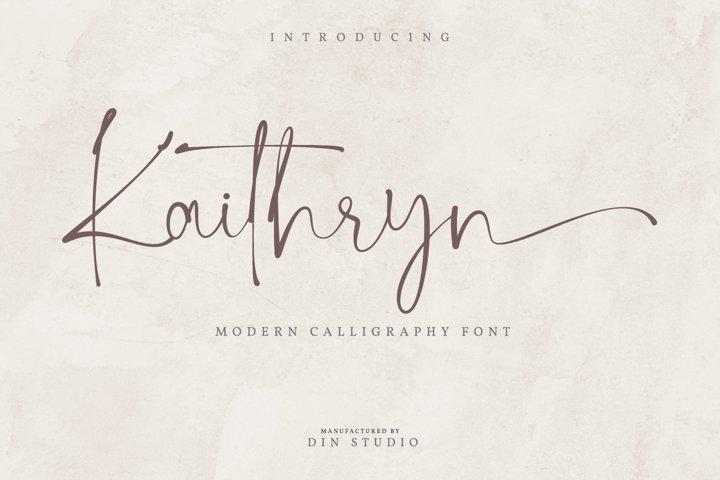 Kaithryn-Modern Calligraphy Font