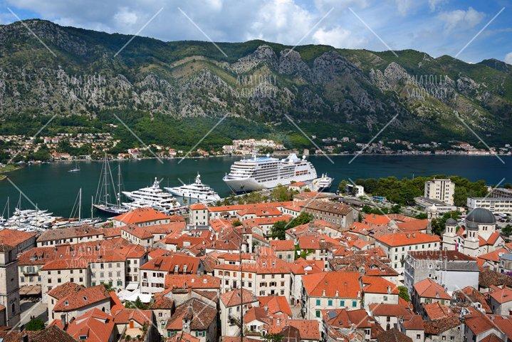 View on old town Kotor, Montenegro