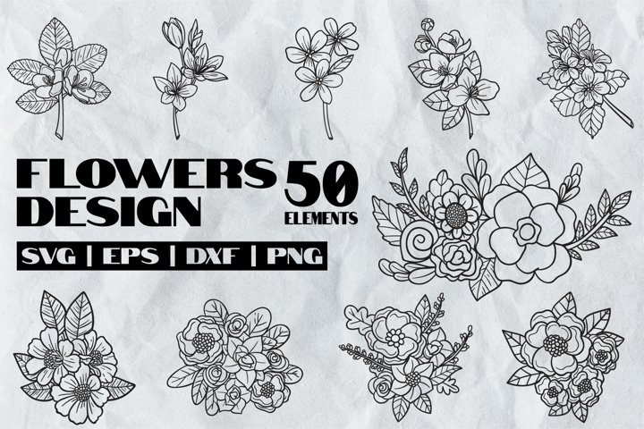 Flower SVG Illustration