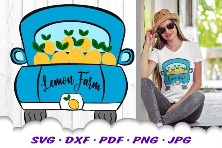Lemon Farm Vintage Truck SVG DXF Cut Files