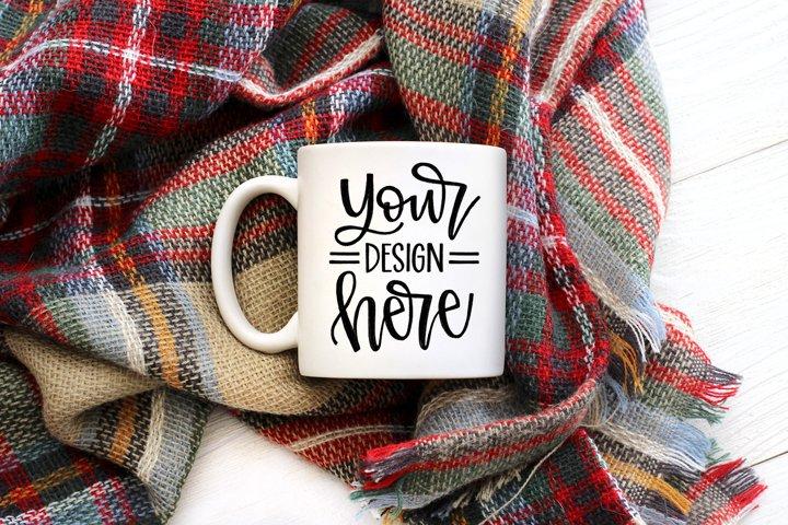 Fall Mug Mockup, Styled Stock Product Photo
