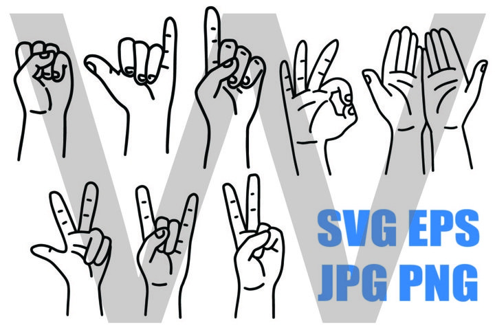 New Style Hand Set 2 - PNG SVG EPS PNG