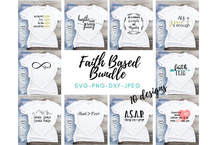 Christian Faith Bundle svg cut file SVG DXF PNG Yoga bundle