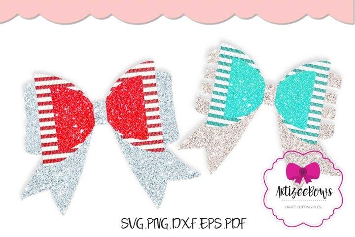 Layered Bow|Hair Bow SVG|Digital Bow|Cricut Silhouette Bow