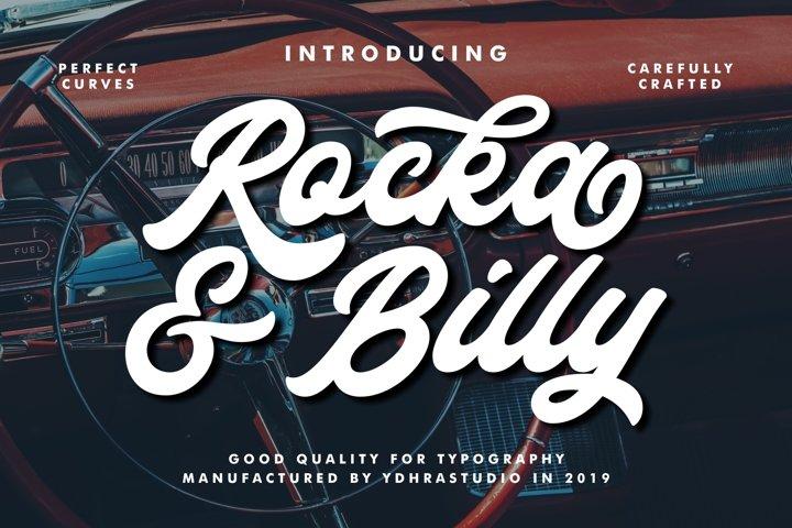 Rocka & Billy - Bold Script Font