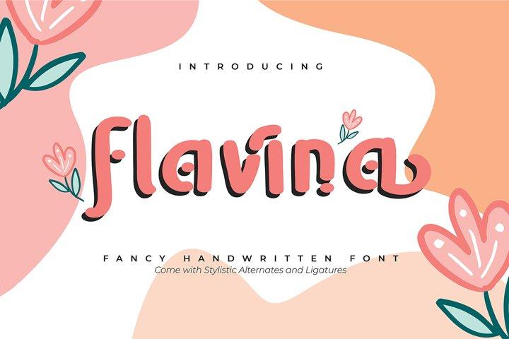 Flavina | Fancy Handwritten Font