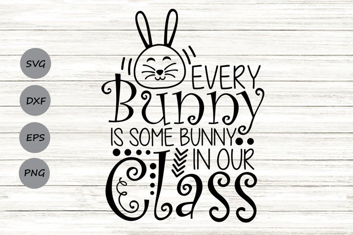Every Bunny Is Some Bunny in Our Class Svg, Easter Svg.