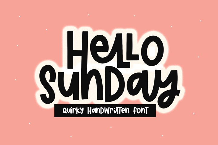 Hello Sunday - A Quirky Handwritten Font