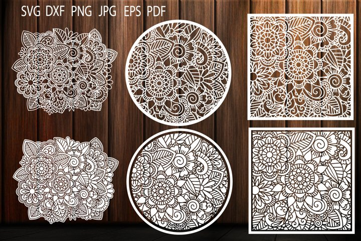 Floral Pattern, SVG, Flower Background, Zentangle, Template - Free Design of The Week