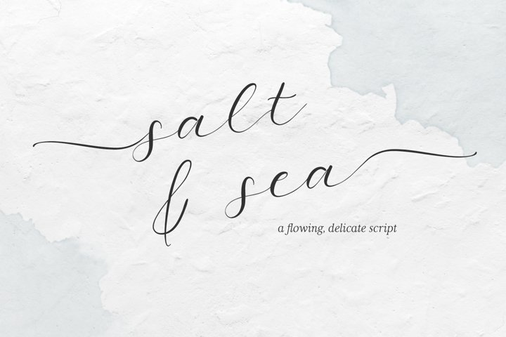 Salt and Sea Calligraphy Font